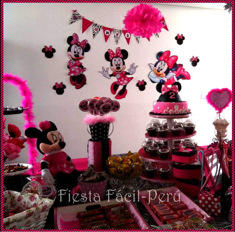 Decoracion Minnie Fucsia ~ FIESTA FACIL PERU Decoraci?n Minnie Coqueta 2