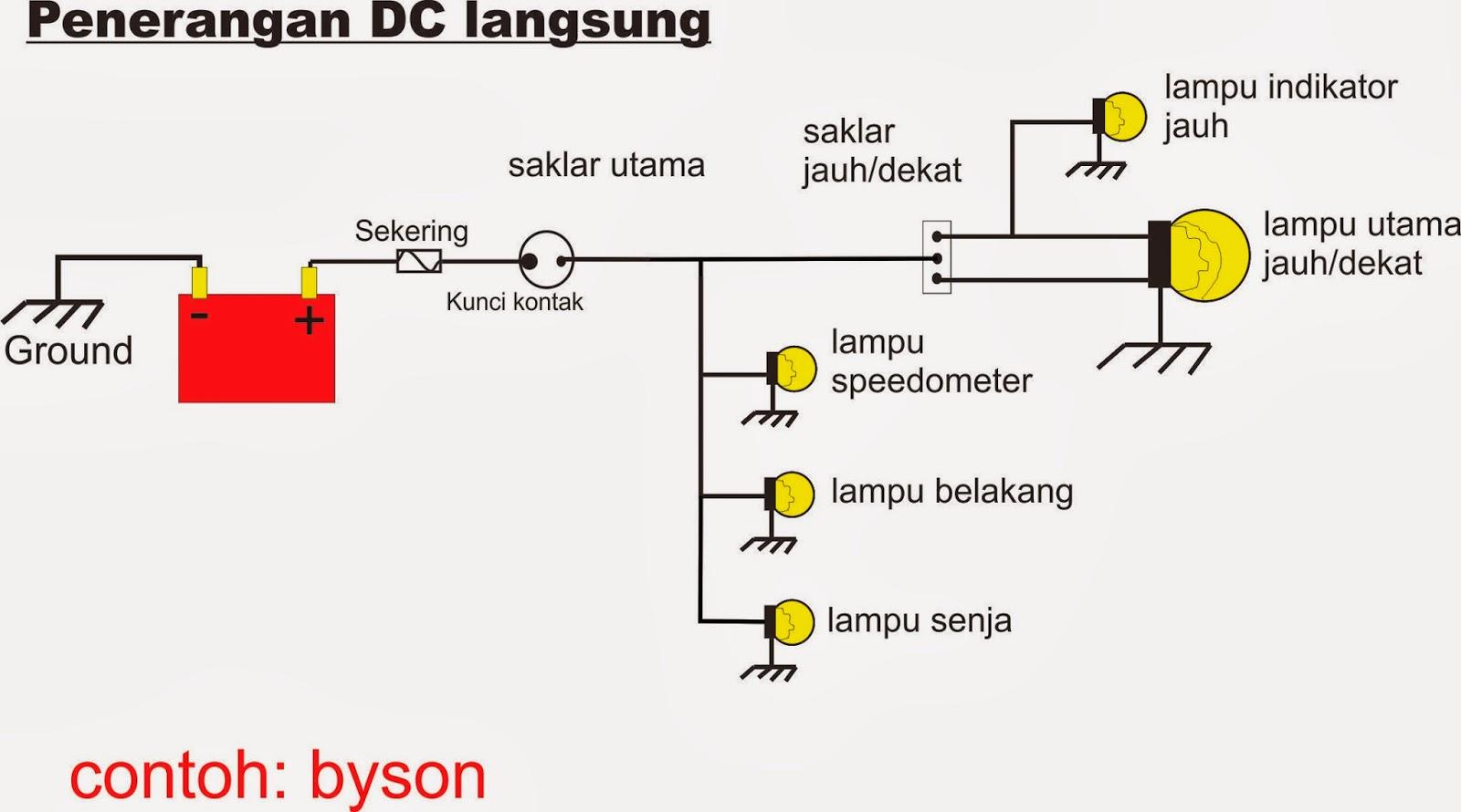 skema sistem lampu motor