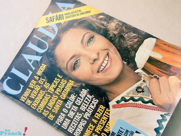 Claudia: capa revista de moda antiga - anos 70