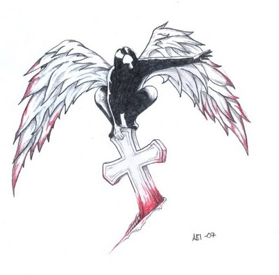 Dark Angel Flash Tattoo Design