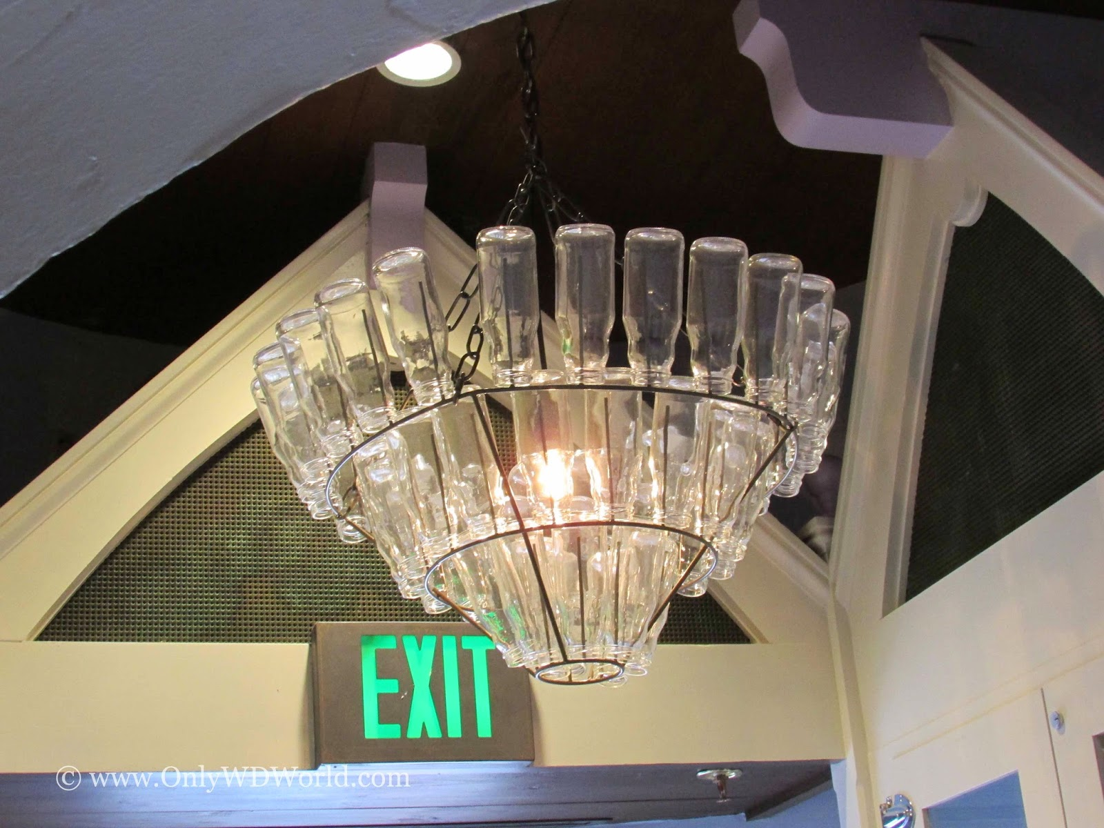 Bottle Chandelier at Home and Interior Design Ideas