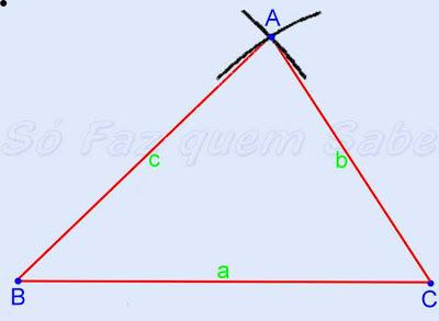Ligando-se os três vértices aparece o triângulo desejado.
