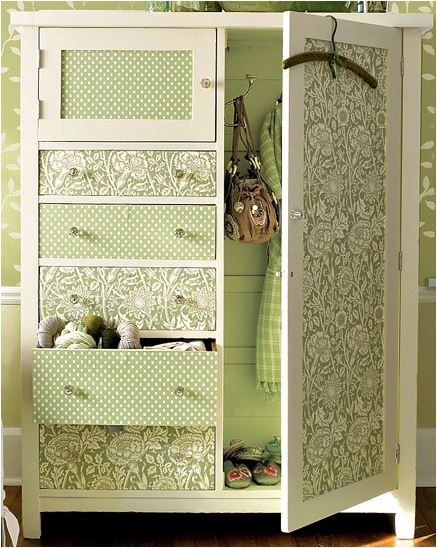 Whimsical moments boutique furniture makeovers diy for Papel para forrar armarios