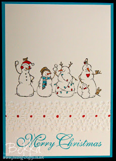 Cute Frosty Friends Snowman Card by Stampin' Up! Demonstrator Bekka Prideaux - She can help you get all your Stampin' Up! supplies