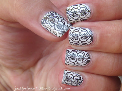 31DC2013 Day 7 - Black & White! Design from DRK-A stamping plate