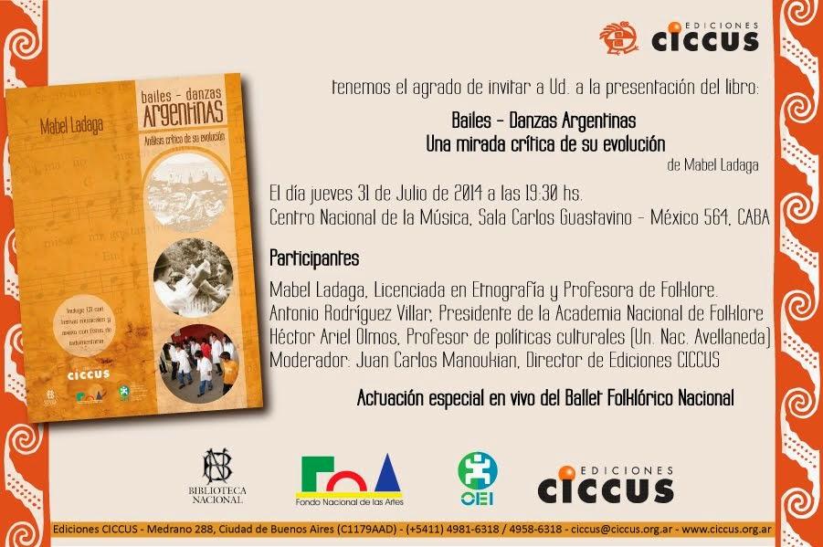 Presentación del Libro Baile-Danzas Argentinas