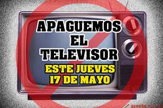 Llaman a no encender los televisores este jueves y a rechazar la masiva propaganda