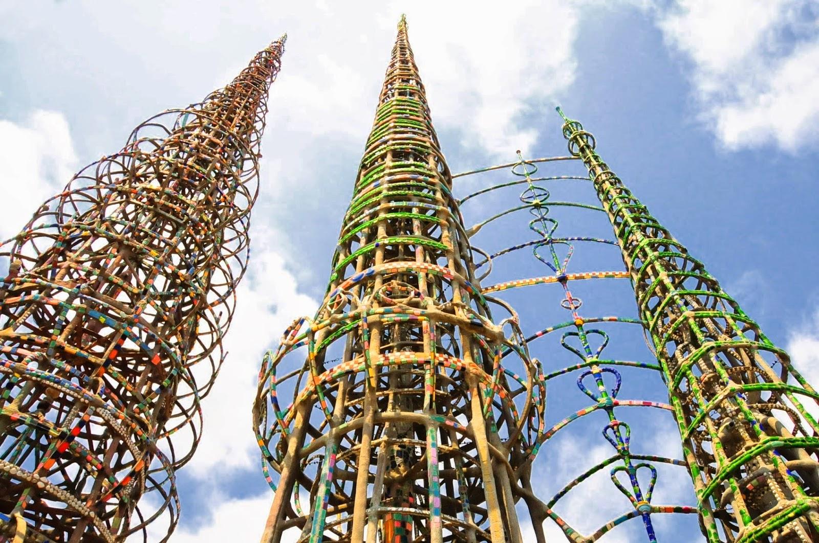 イタリア人移民の情熱、地域の芸術拠点ワッツ・タワー カリフォルニア移民社会見聞録 米国カリフォル