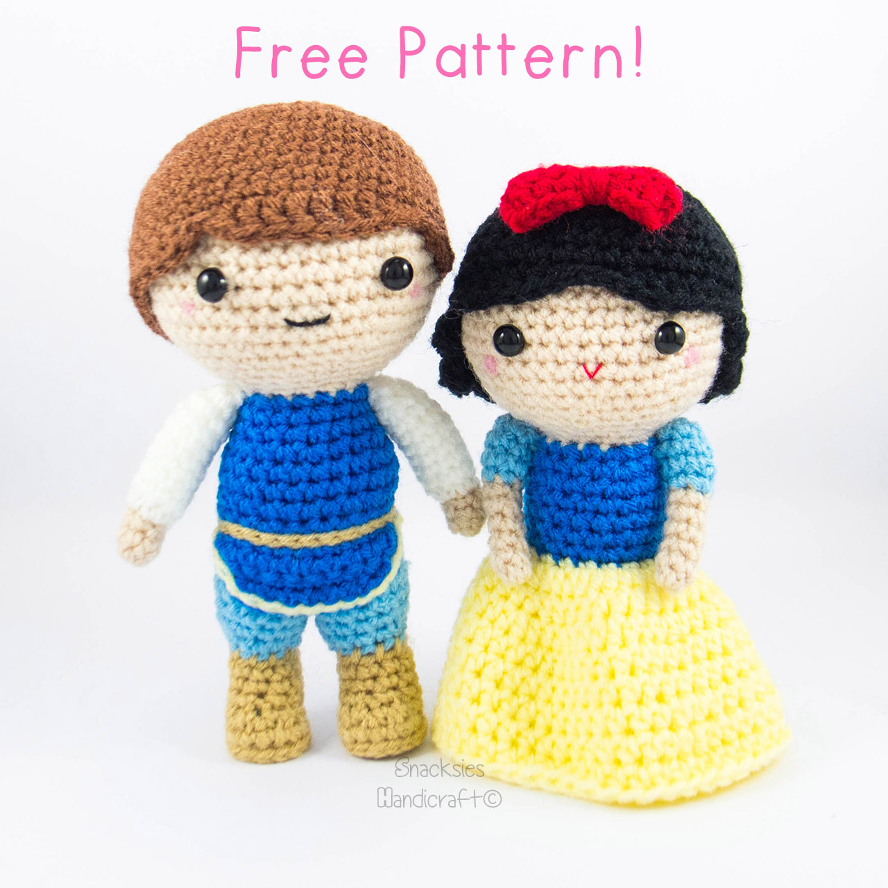 Free Amigurumi Patterns Online : Snow White and Prince Amigurumi Pattern (Free) ~ Snacksies ...