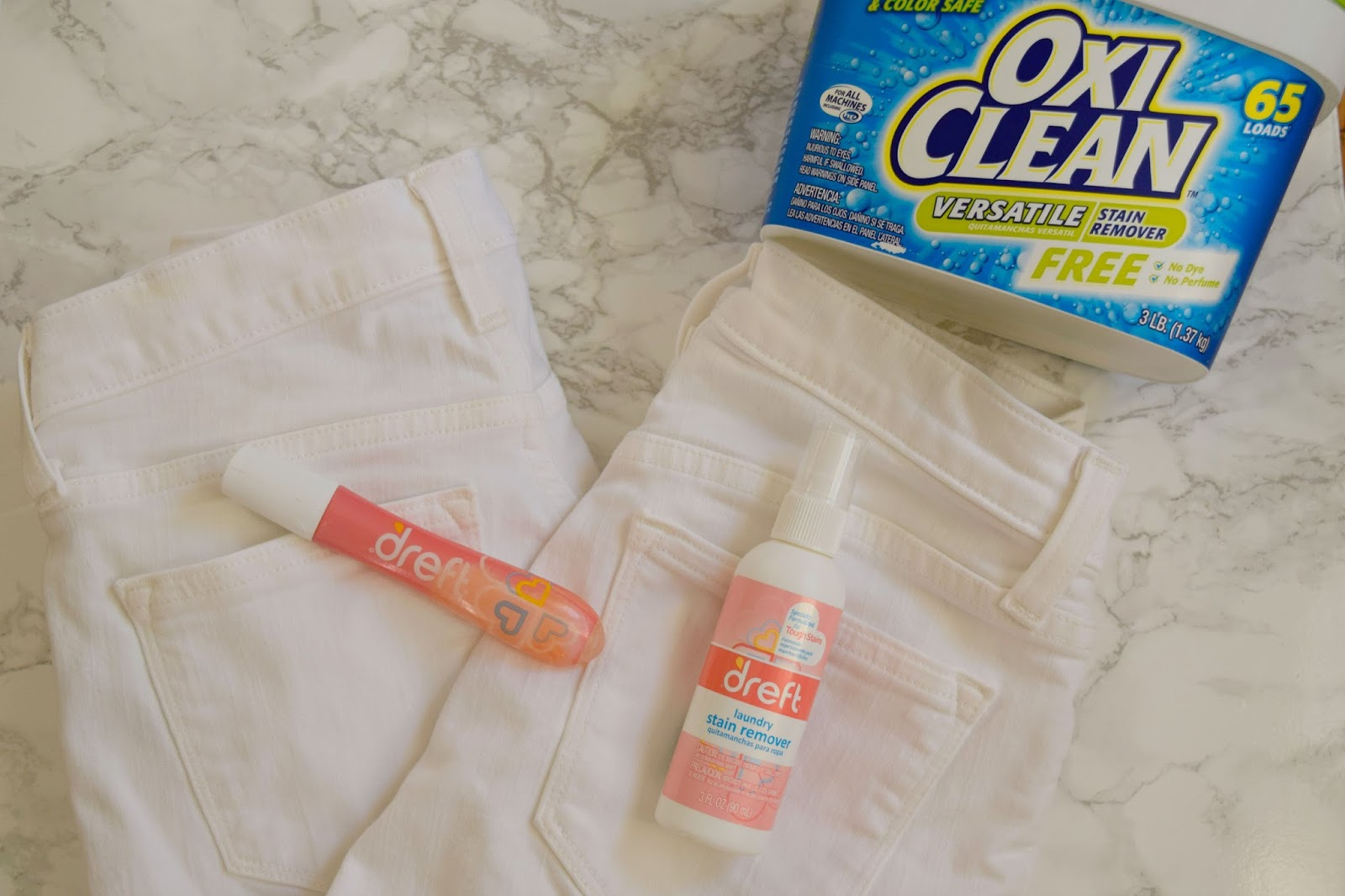 keep white jeans white - bleach white jeans - oxiclean white jeans