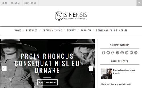 Template Sinensis Para Blog de Noticias
