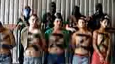 Mexican Zetas drug cartel, are prepped for beheading in this video
