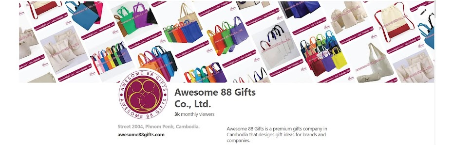Promotional Items & Premium Gifts Suppliers Cambodia - Awesome 88 Gifts Co., Ltd.