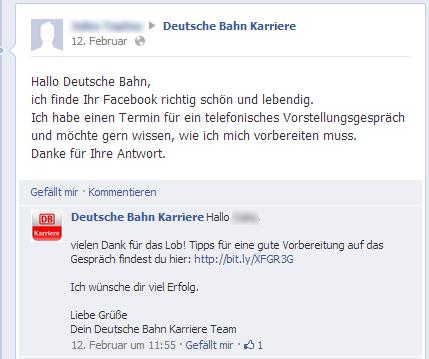 schnelle und sinnvolle untersttzung so sollte es laufen - Bewerbung Deutsche Bahn