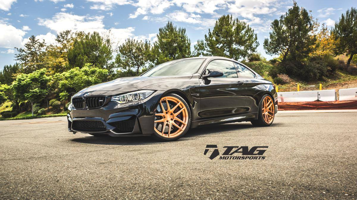 bmw m4 coupe on matte black hre and gold morr wheels. Black Bedroom Furniture Sets. Home Design Ideas