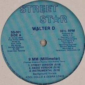 Walter D - 9 mm (Millimeter) & Sex (Vinyl, 12'' 1989)(Street Star Records )