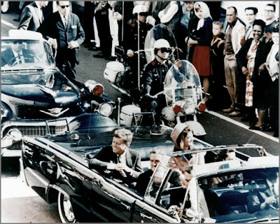 President Kennedy minutes before his assassination