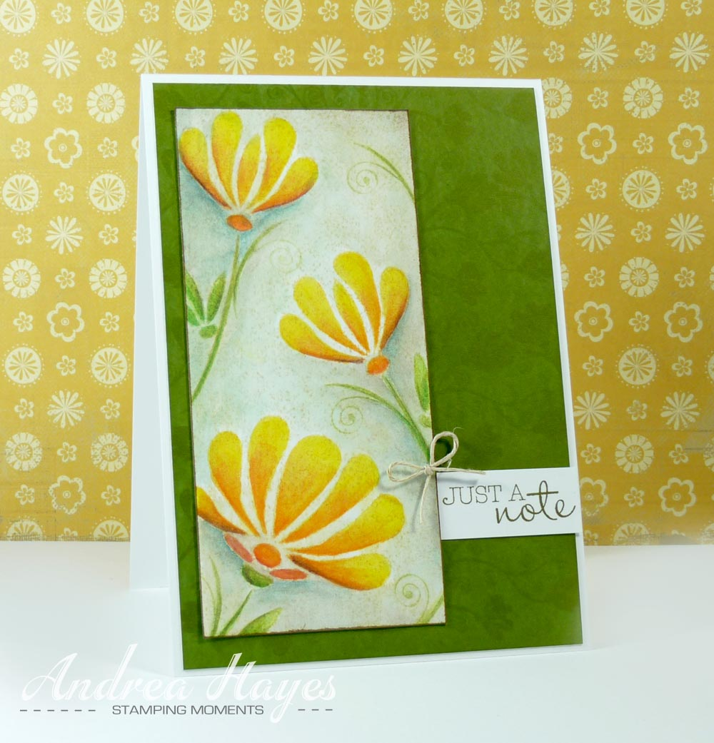 Annabelle stamps blog friday feature fanciful flowers the images were stamped on to watercolour paper with di scattered straw i wasnt concerned that di are water based inks because i was going over the image izmirmasajfo