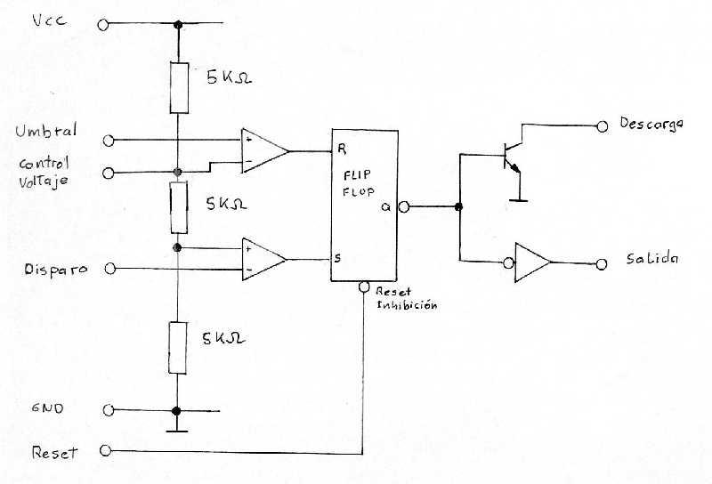 Circuito Monoestable 555 : Circuito integrado