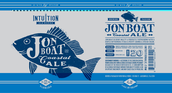 Intuition Ale Works Jon Boat Coastal Ale label
