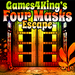 Games4King Four Masks Escape