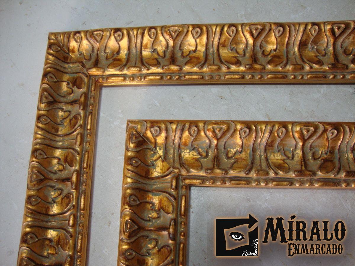 Marcos europeos clasicos dorados y plateados a la hoja for Marcos plateados para espejos