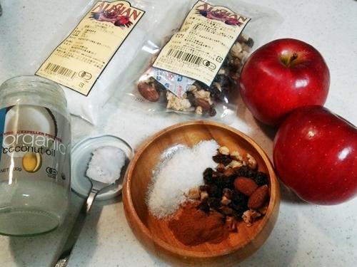 健康維持に簡単で美味しい☆ココナッツオイルソテーしたホットアップル