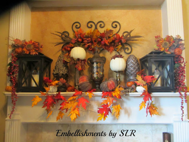 fall mantel decor          Embellishments by SLR