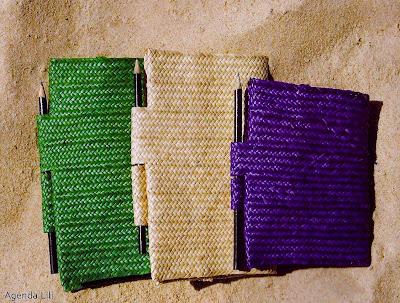 porta agenda-artesanato de palha de piaçava-artesanato da Bahia-trança de piaçava-artesanato indígena-