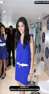 Anushka Sharma in blue short dress