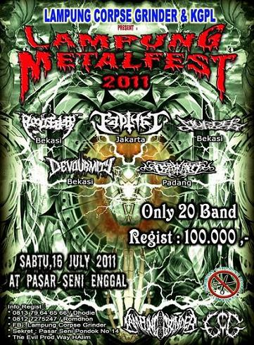 LAMPUNG METAL FEST 2011 (July 16th, Need more band Regist)
