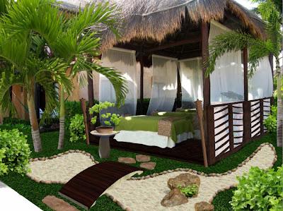 Dise o de jardines peque os spa hotel allegro playa del for Construir laguna artificial