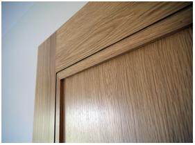Flat panel door