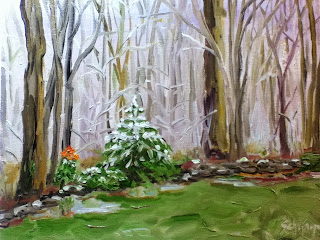 Kath Schifano, Grand Island painting, Spring snow