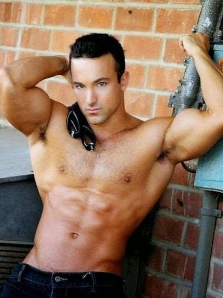 Muscular Male Model Armpits