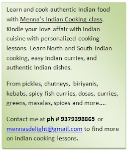 Indian cookery classes
