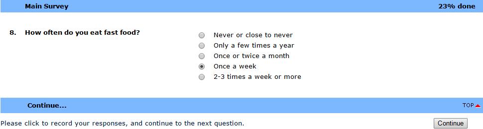Survey questions - Spidermetrix