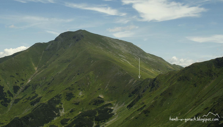 Widok na Pyszniańską Przełęcz z Siwej Przełęczy