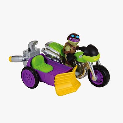 JUGUETES - LAS TORTUGAS NINJA : Half-Shell Heroes  Motocicleta Sidecar + Donatello | Vehículo + Figura  Rippin' Rider with Biker Donnie | Teenage Muntant Ninja Turtles  Producto Oficial Serie Televisión | 96702 | A partir de 3 años