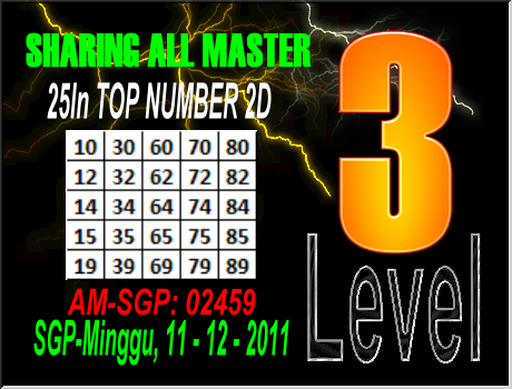 Togel Singapore - Minggu, 11-12-2011