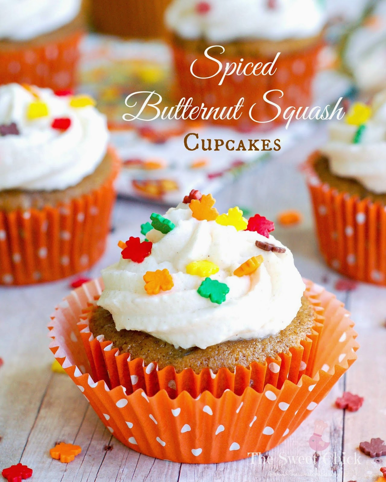Spiced Butternut Squash Cupcakes by The Sweet Chick