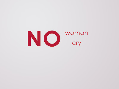 No Woman No Cry Minimal Text HD Desktop Wallpaper