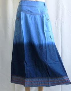 Rok Jeans Gradasi Kombinasi RM331