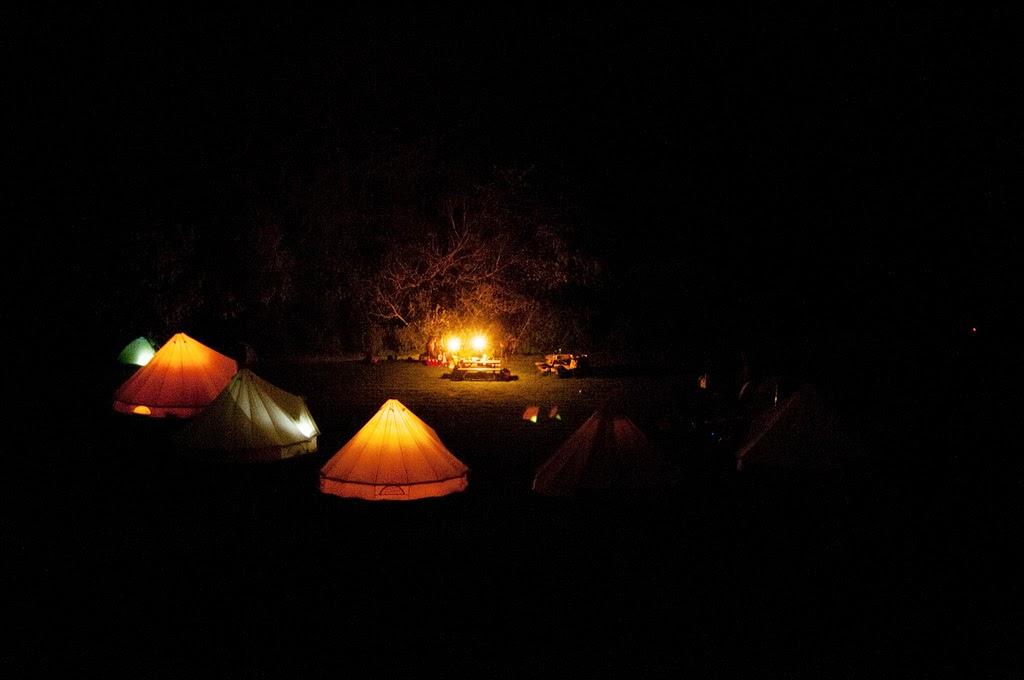 Night scene at Thistledown