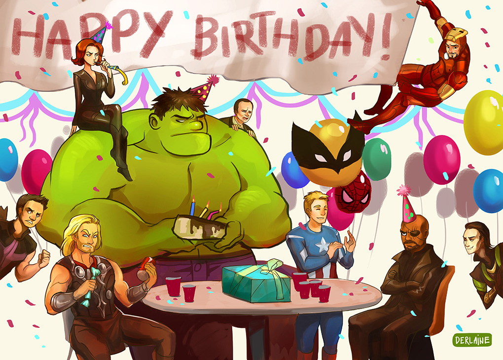 Happy Birthday Images Avengers Team Wishes