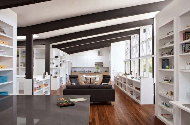 contemporay-interior-reading-room-Net-Zero-Energy-Modern-House