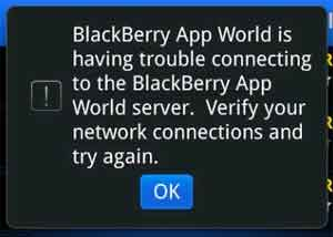 Mengatasi BlackBerry App World Error