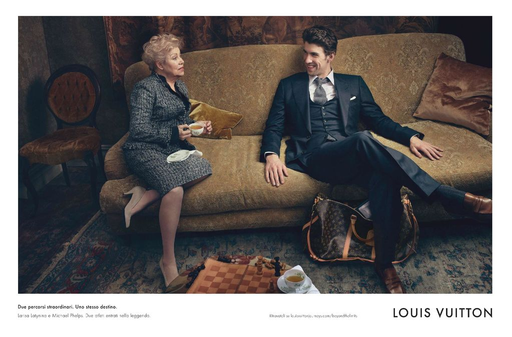 00O00 London Menswear Blog Michael Phelps and former Soviet gymnast Larisa Latynina star in Louis Vuitton's latest Core Values campaign
