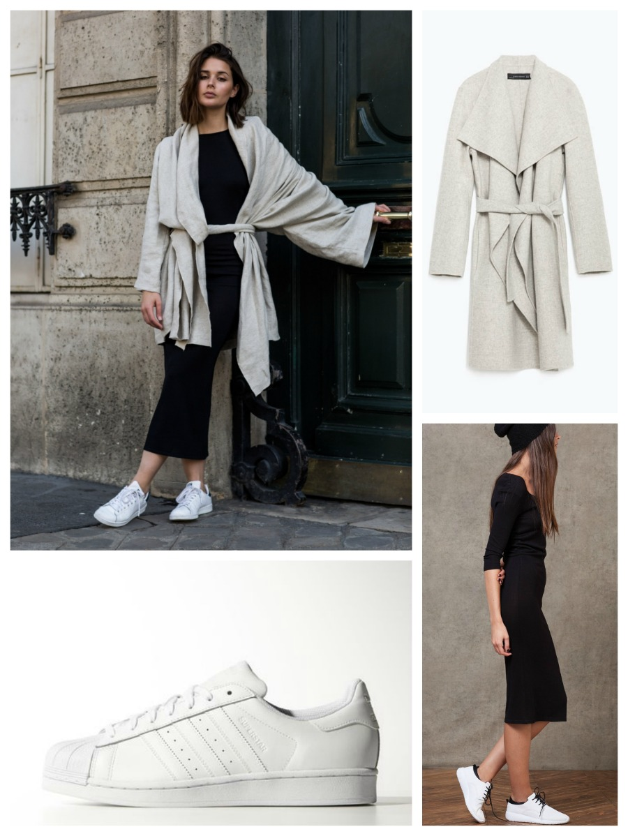 get the look harper&harley littledreamsbyr black dress grey coat
