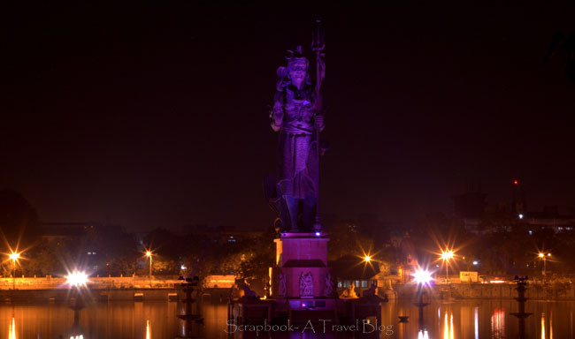 Sur Sagar Lake Vadodara illuminated